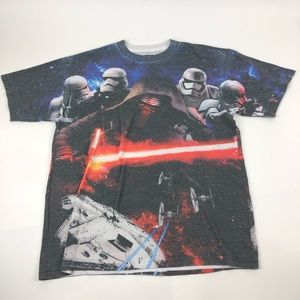 Star Wars The Force Awakens T Shirt Double Sided